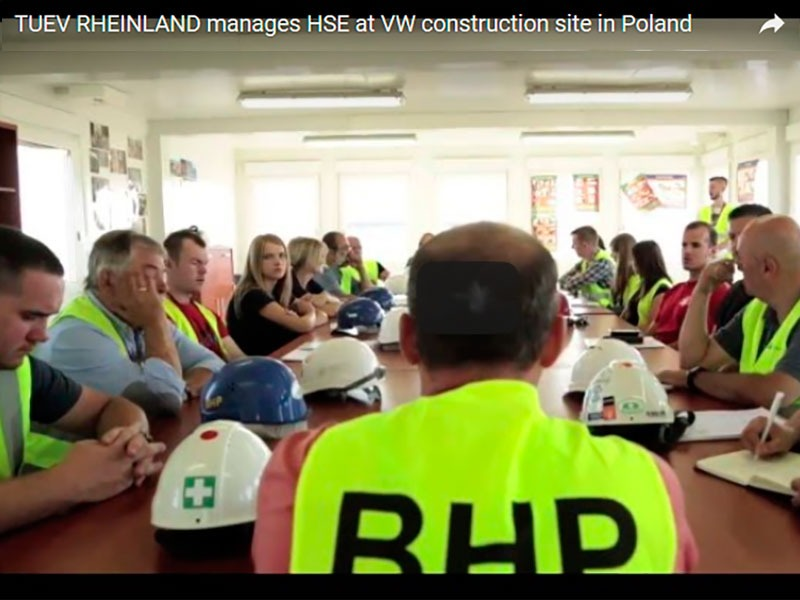 HSE management at VW construction site in Poland