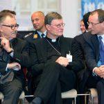 Professor Dr. Bruno O. Braun, Cardinal Rainer Woelki, and Dr. Michael Fübi